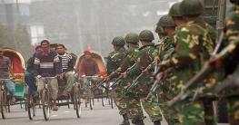 সামাজিক দুরত্ব নিশ্চিত করতে  ফেনীতেও কঠোর  সেনাবাহিনী